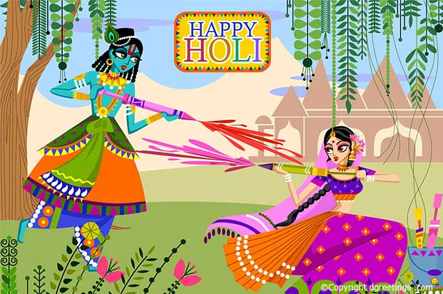 picture of krishna and radha with happy holi