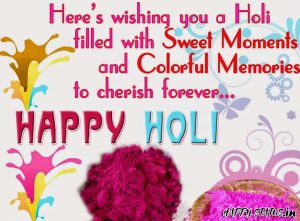 Picture of happy holi caption